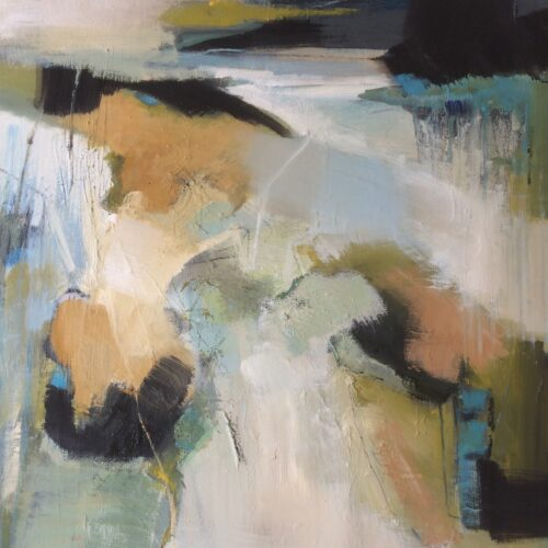 2004Sandbanks 50 x 50cm. Oil on canvas