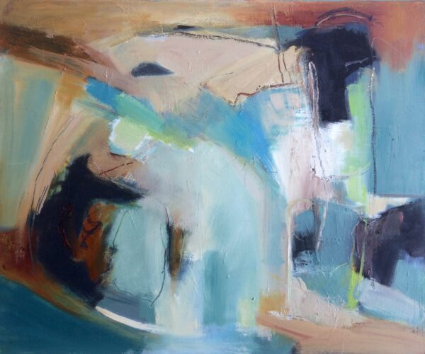 2005Floating 50 x 60cm Oil on Canvas