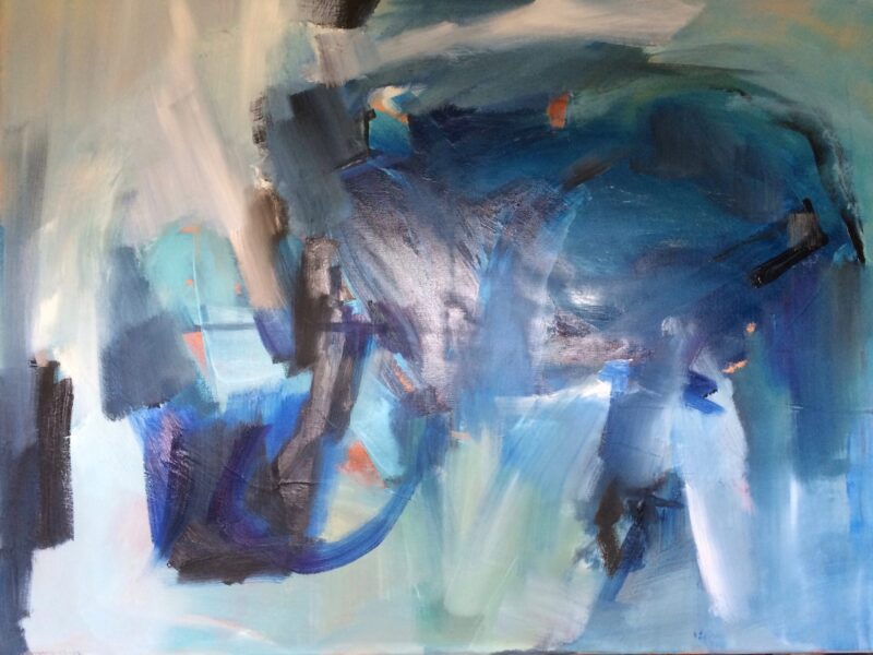 2037 Energetic 60 x 80cm Oil on canvas