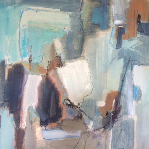 2044 Gentle Blues 50 x 50cm Oil on canvas