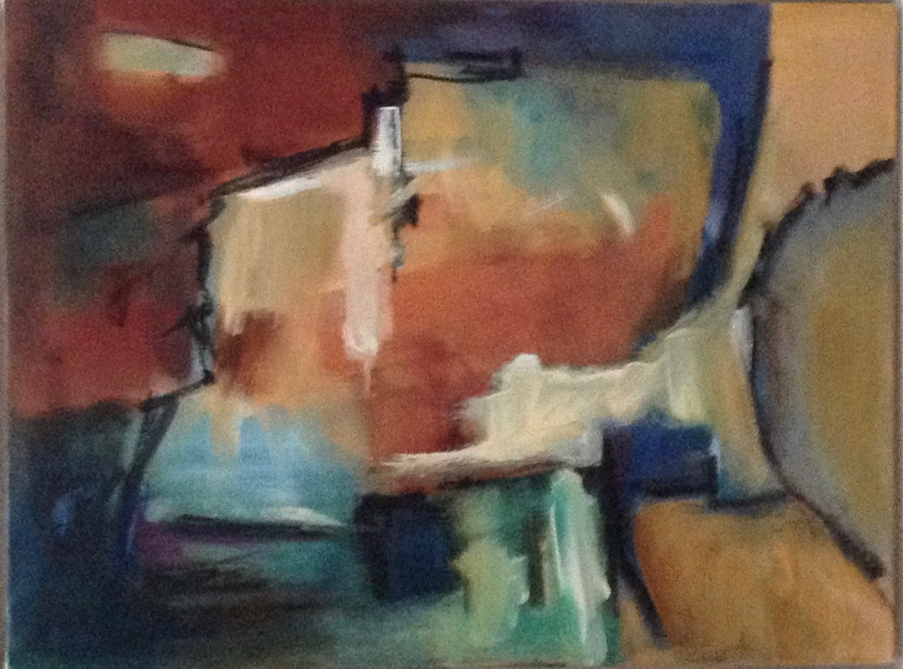 Burnt Orange abstract oil painting