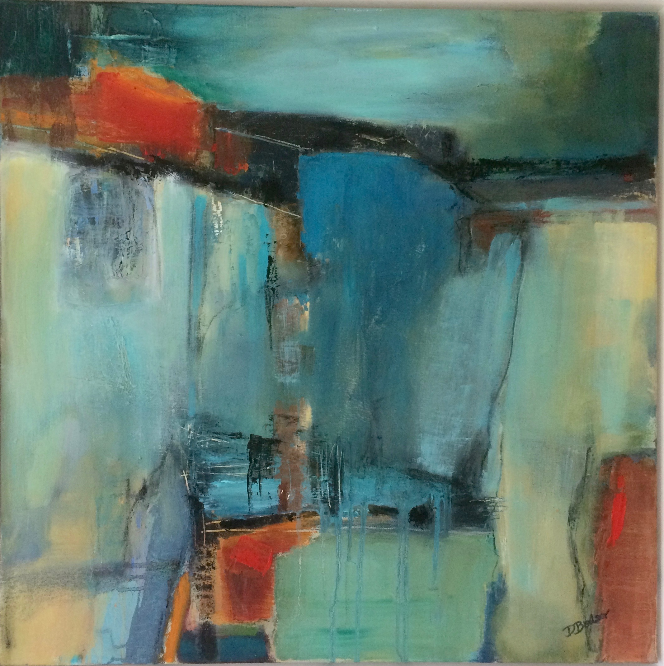 Blue Harmony abstract oil painting