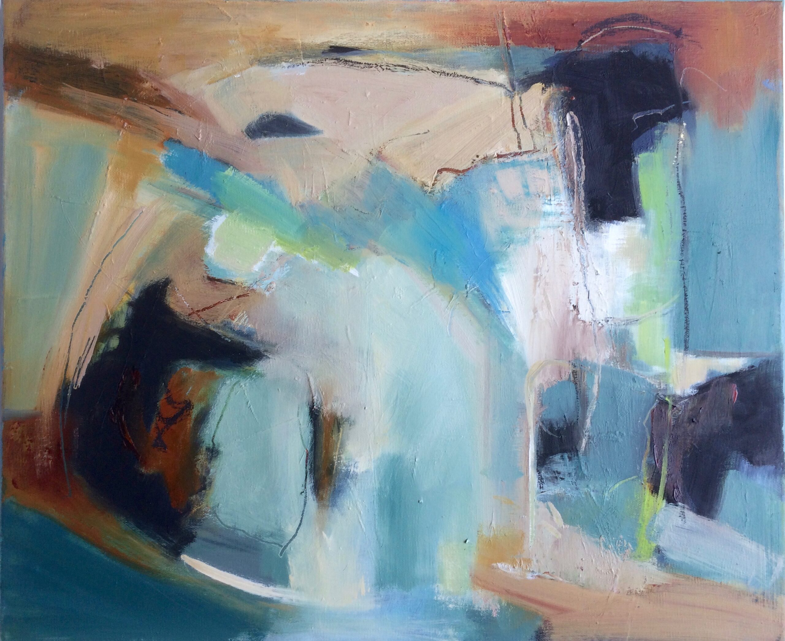Floating abstract oil painting