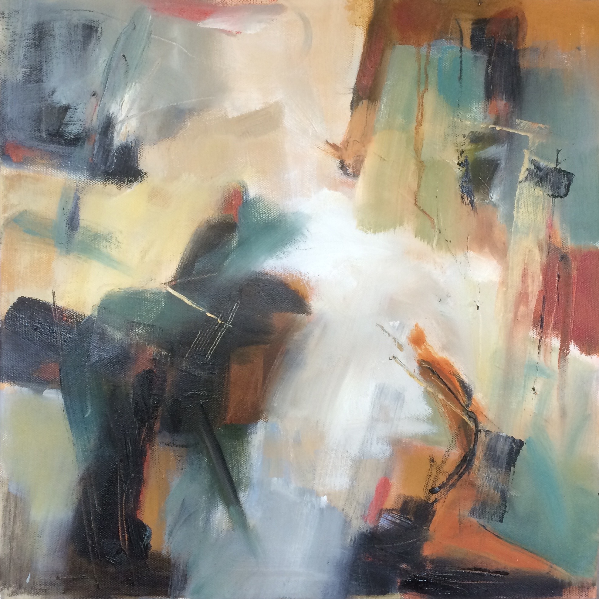 Take Five abstract oil painting