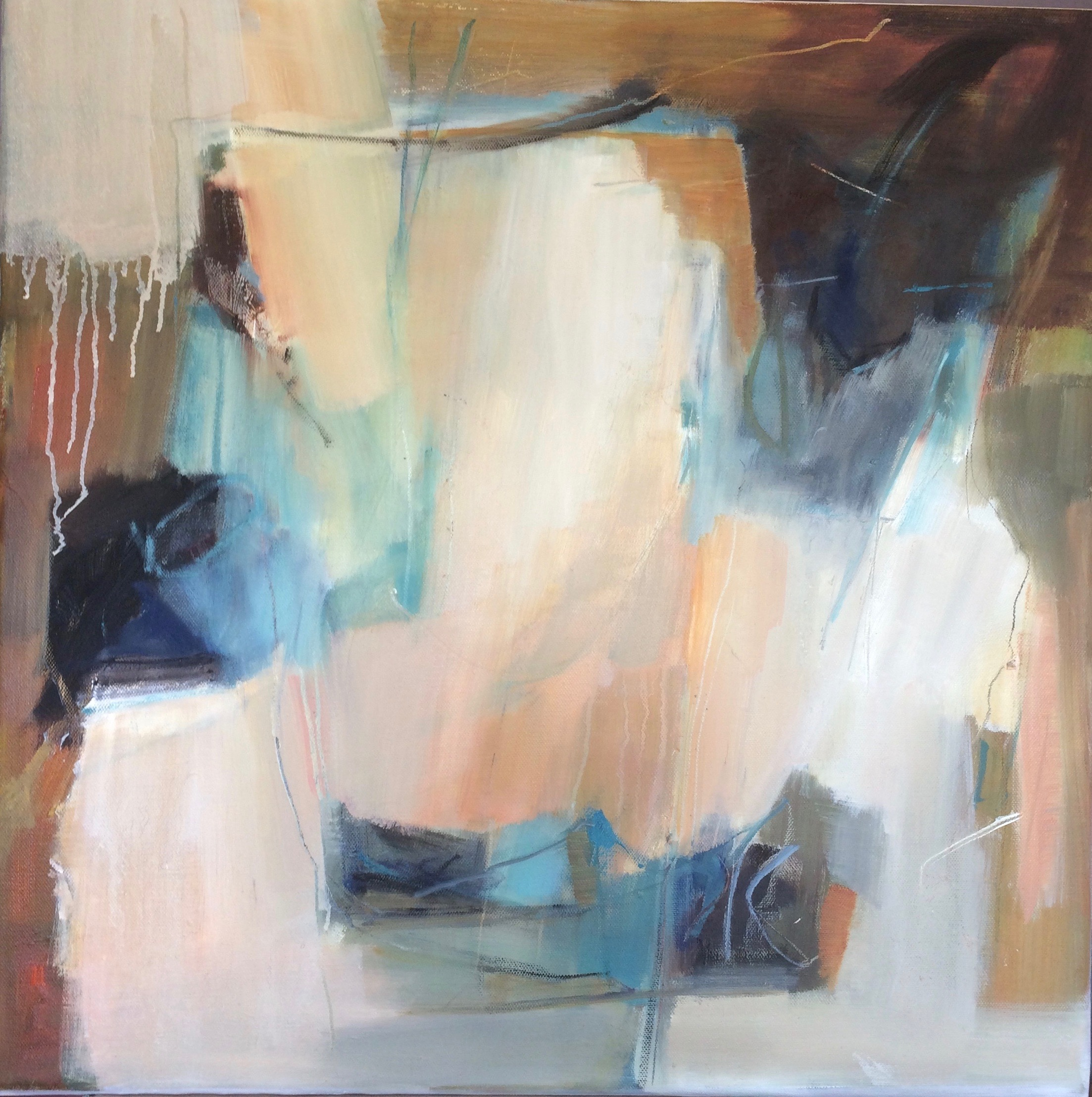 Waters Edge abstract oil painting