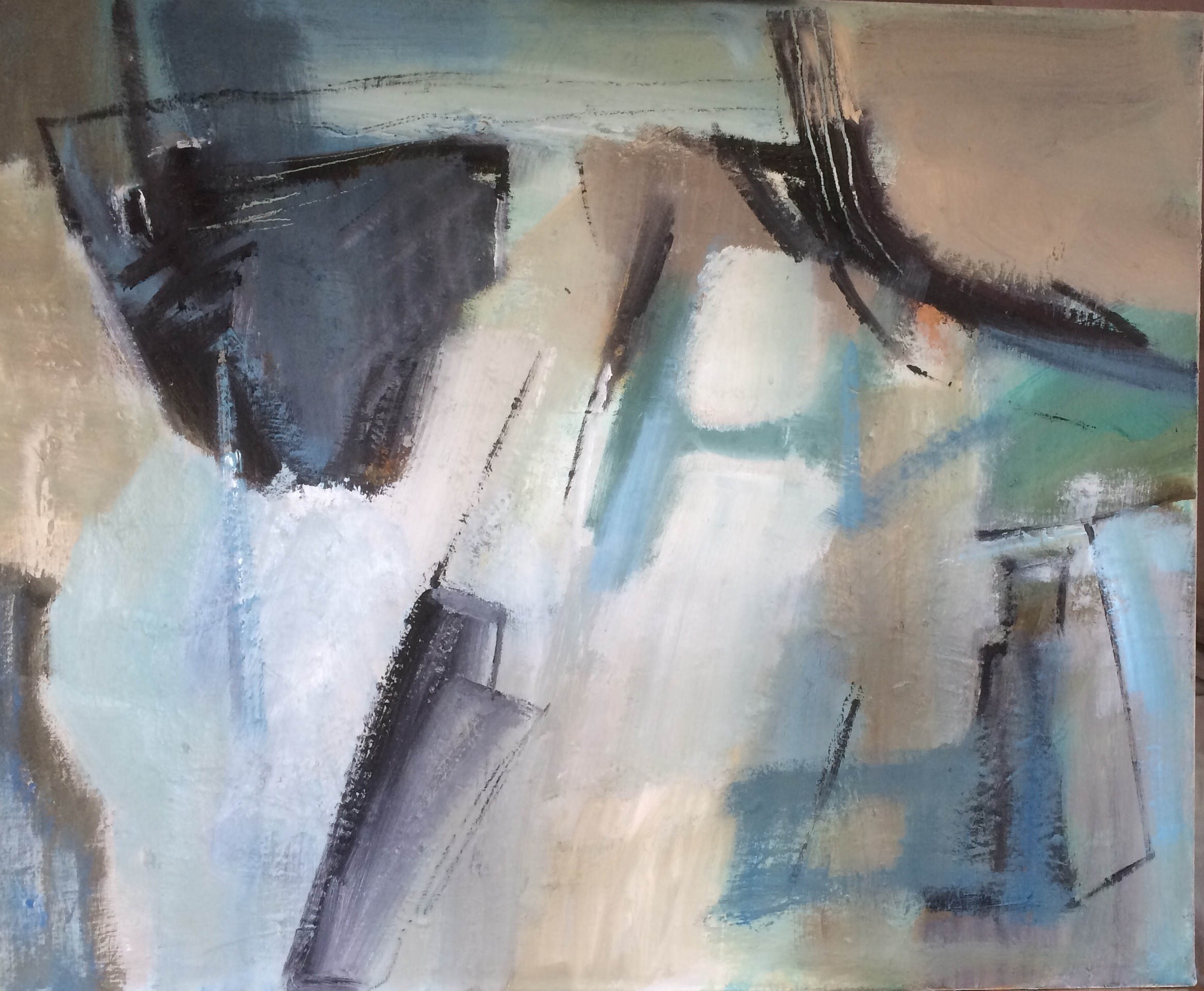 Safe Haven abstract oil painting