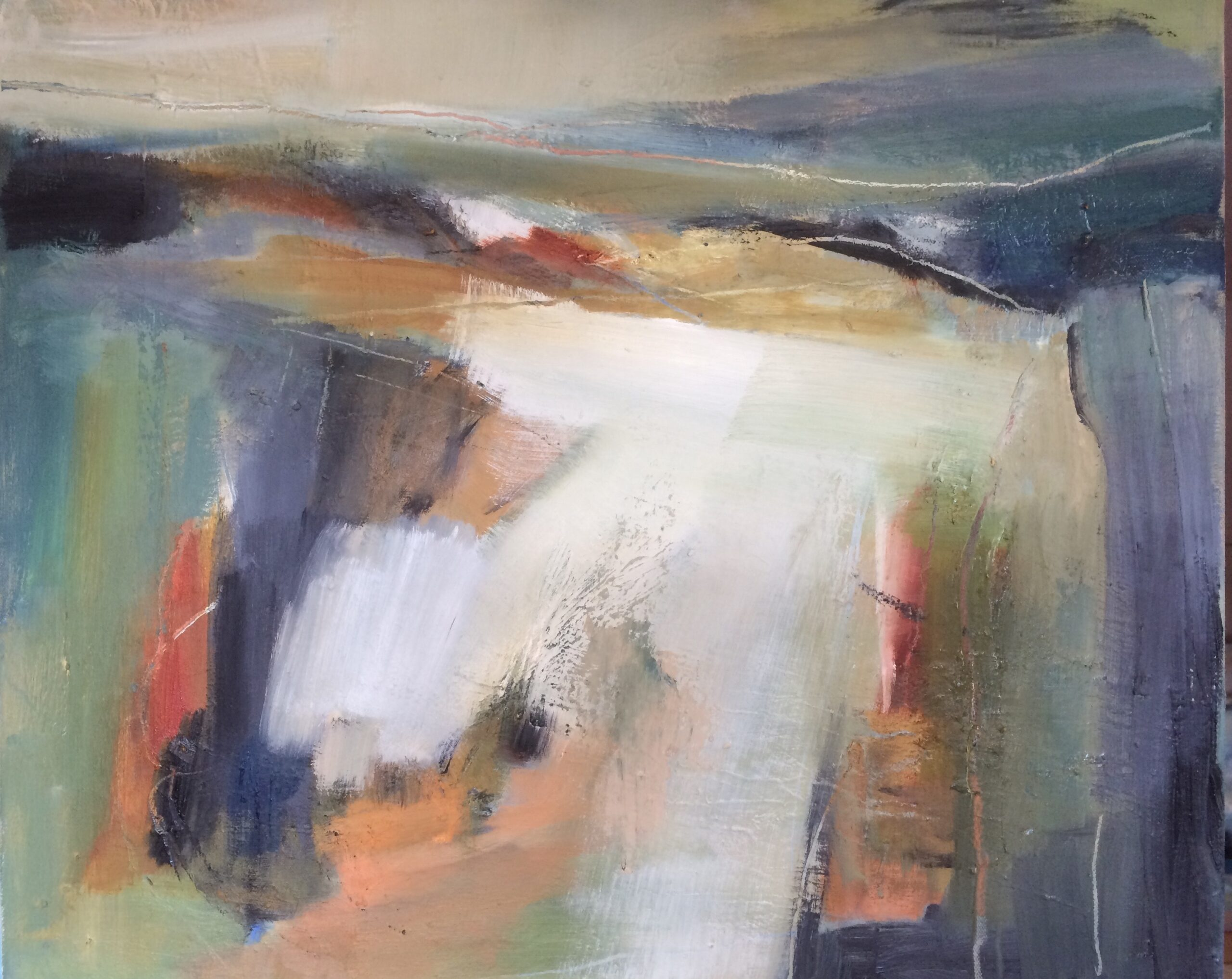 Distant Path abstract oil painting