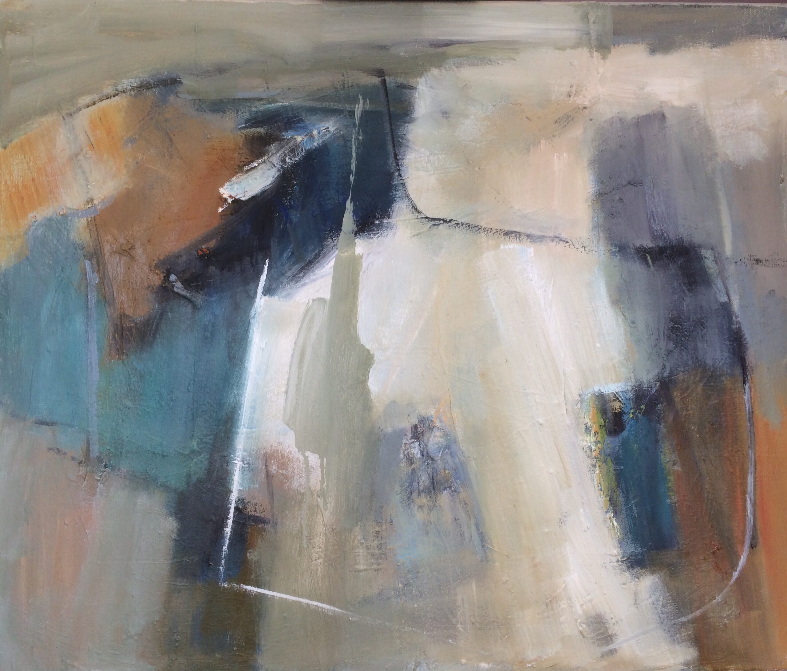 Sheltered abstract painting