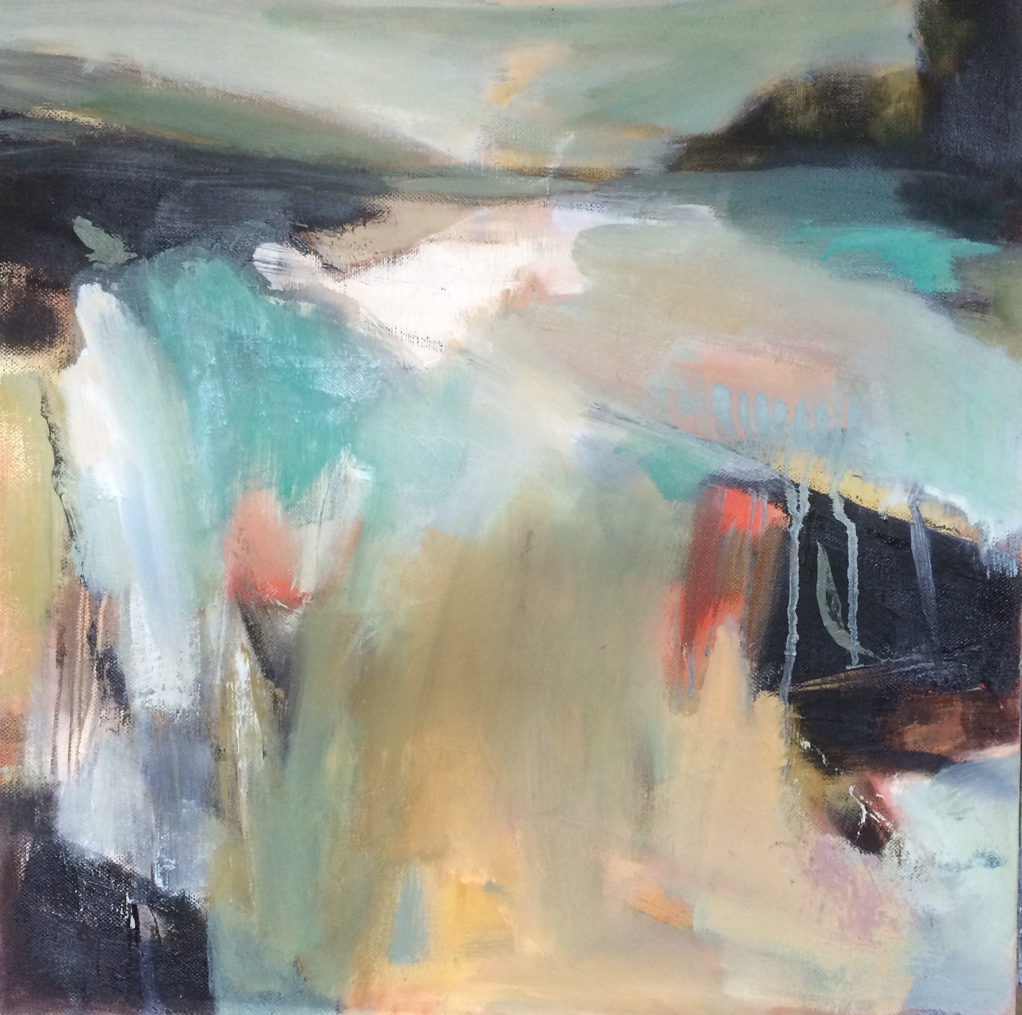 Distant Sea abstract oil painting