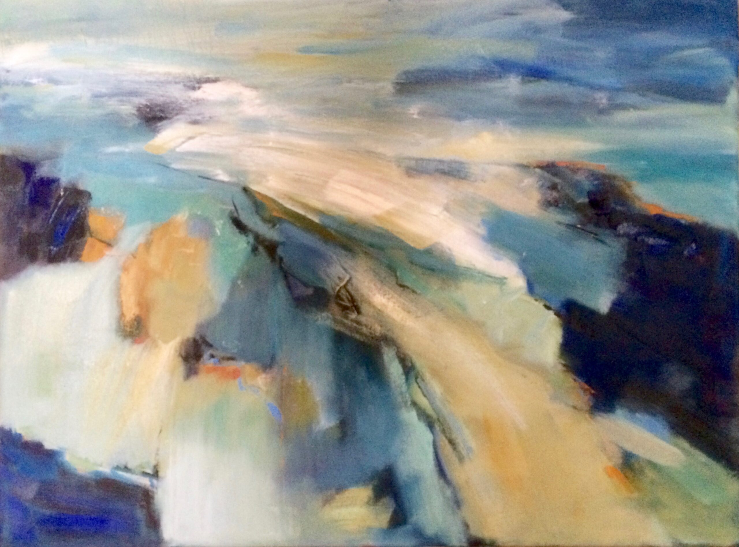 Sea Thoughts abstract painting