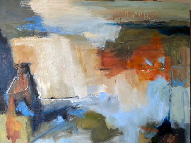 Abstract painting by Diane Bedser