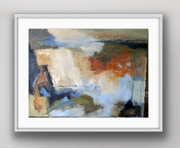 Sea Dreams Abstract Painting in a Frame by Diane Bedser