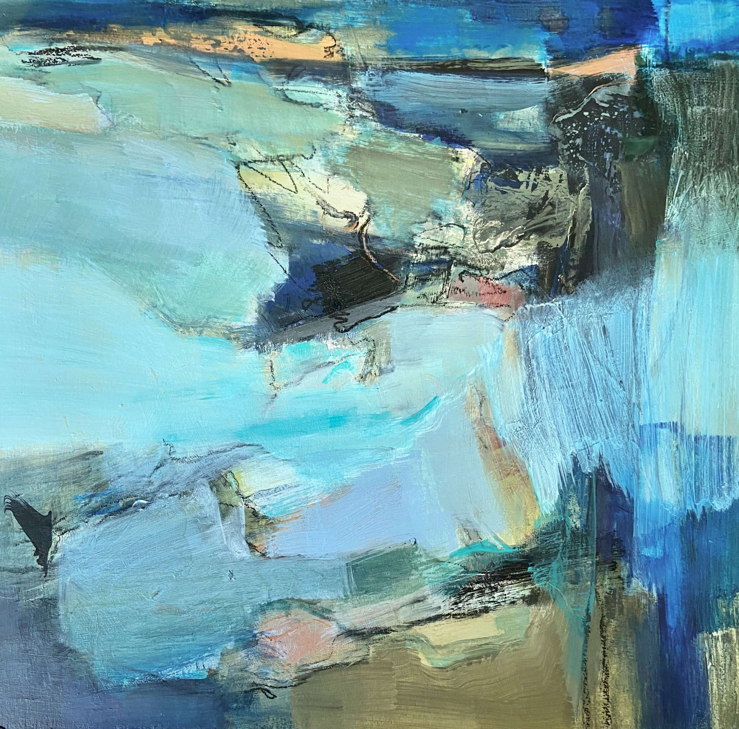 By The Sea Abstract Painting