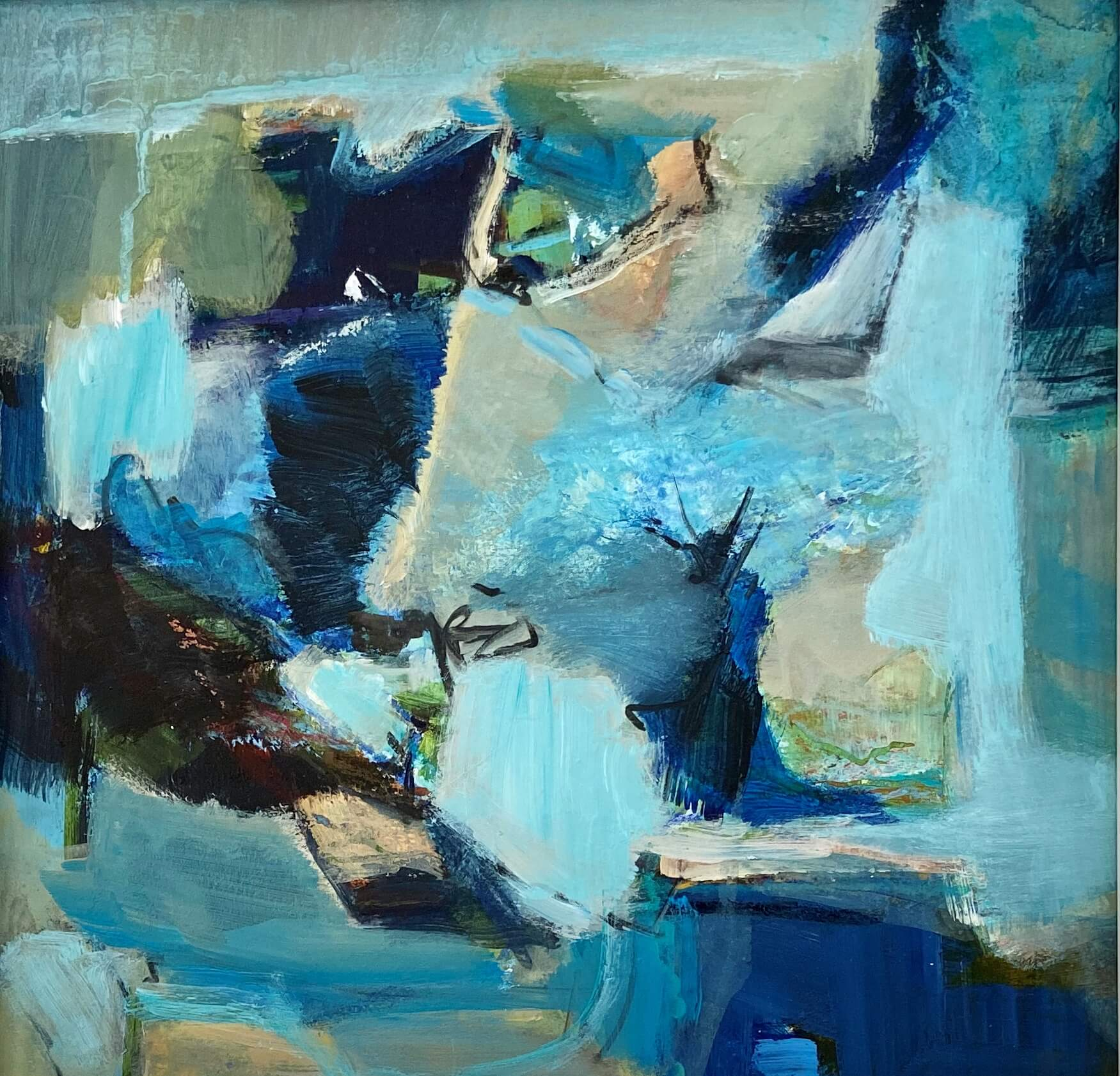 Coastal Forms Abstract Painting