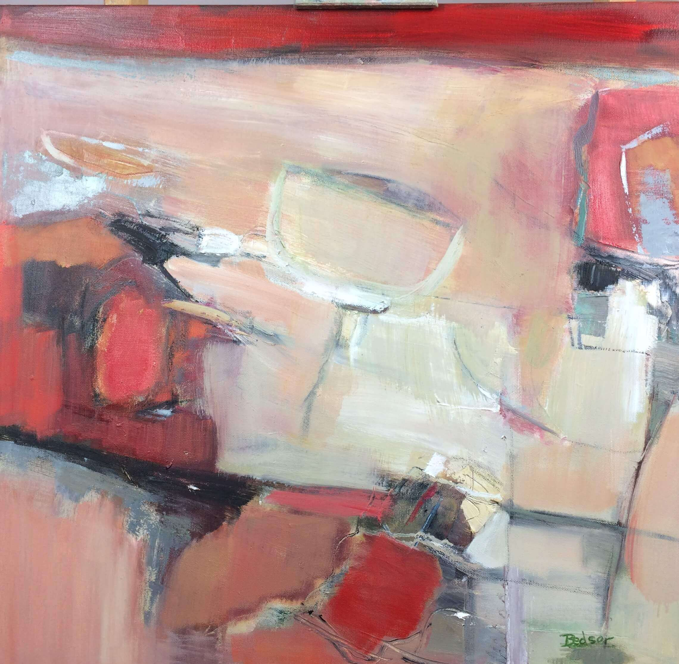 Moving Through Abstract Oil Painting