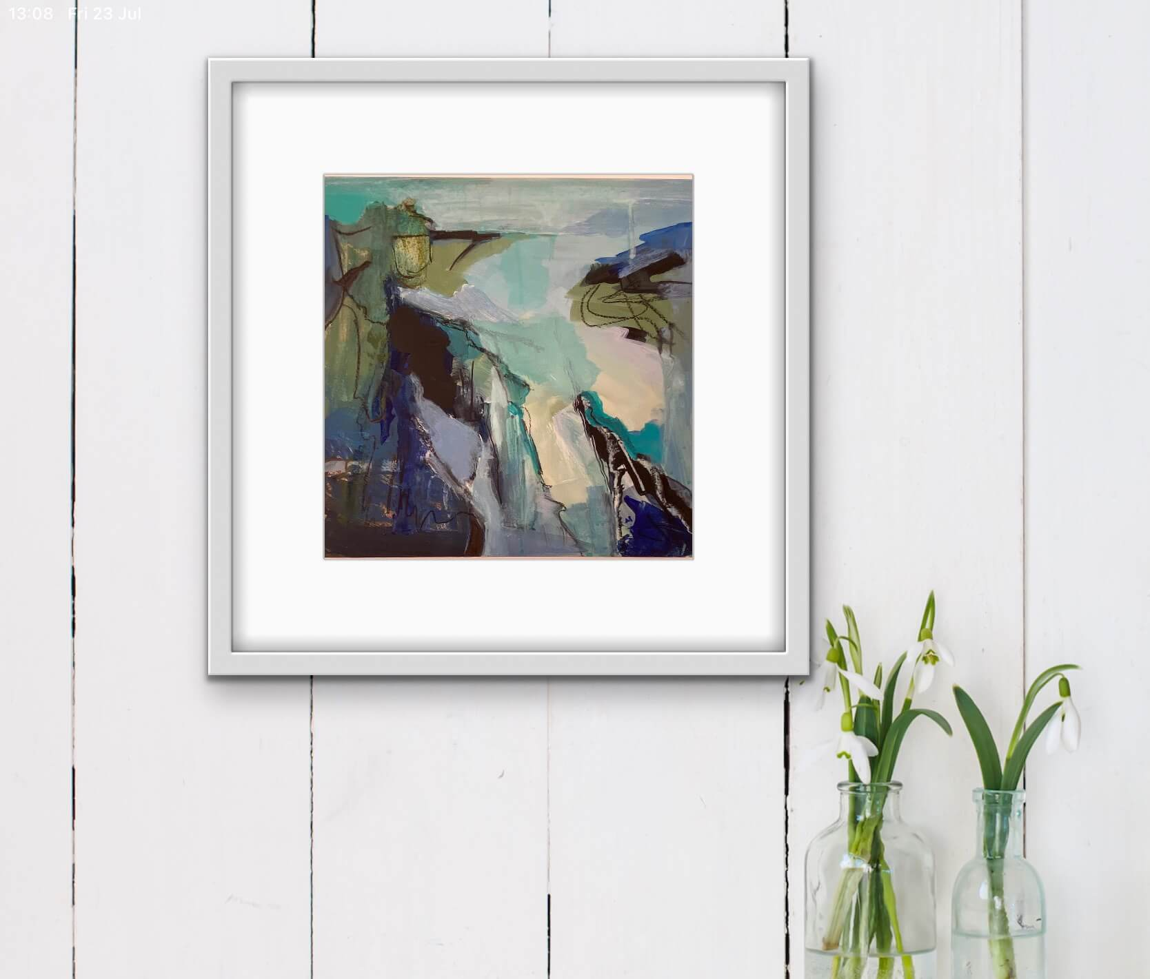 Rock Pools Abstract Painting Hanging in Hall Way
