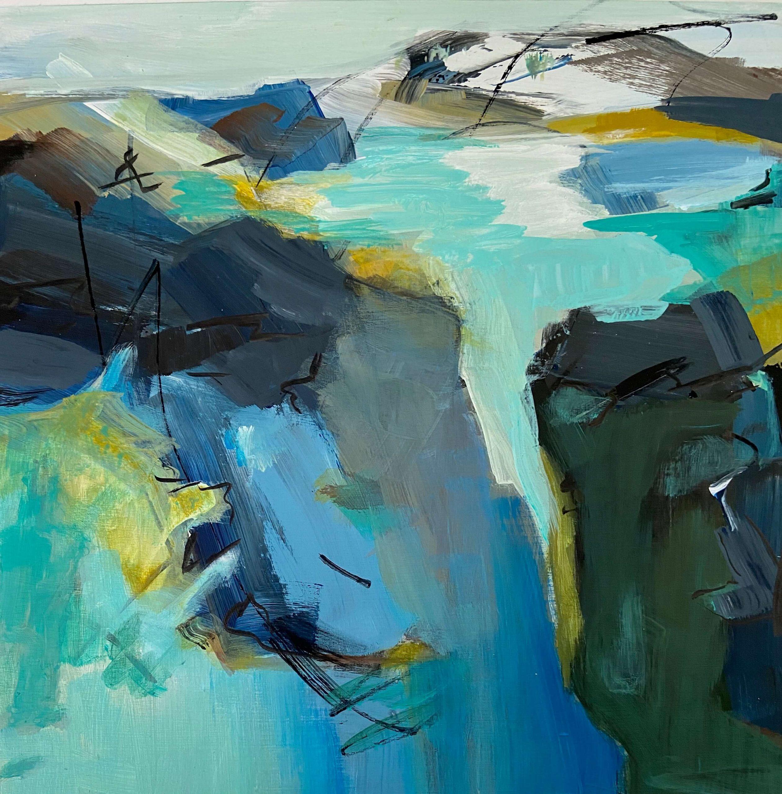 Sea Shore Abstract Painting