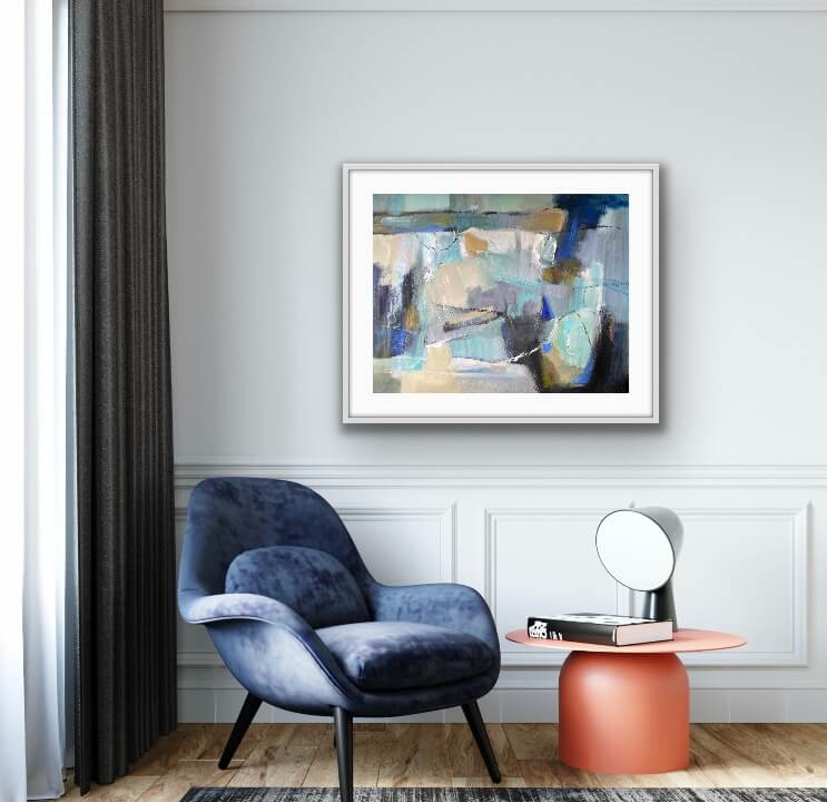 Showing The Way Abstract Painting Hanging on Wall