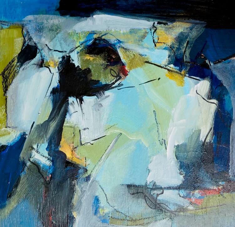 Waters Edge Abstract Painting